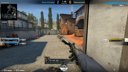 HyperX League 2v2 - Team S1mpler vs Takaraiskel on inferno